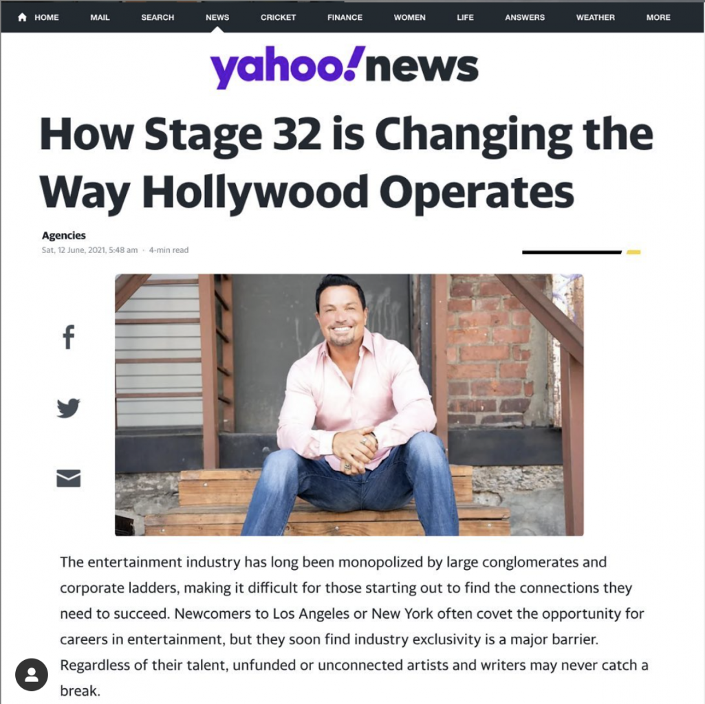 In the News How Stage 32 is Changing the Way Hollywood Operates